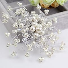Femme / Jeune bouquetière Cristal / Imitation de perle Casque-Mariage / Occasion spéciale / Décontracté Peigne / Fleurs