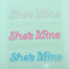 """""""She is Mine"""" Crystal Acrylic Shoe Sticker (More Colors)"""