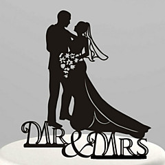 Cake Toppers Acrylic Mr & Mrs Cake Topper