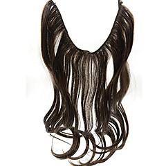 머리 연장 최고 품질의 003에서 20 인치 # 2 어두운 갈색 후광 머리 연장 합성 플립