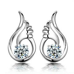 női magas minőségű ezüst borítás fülbevaló