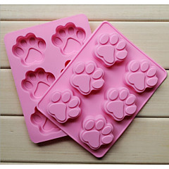mode siliconen 6 gaten kat klauwen vorm taart bakvormen schimmel zeep chocolade keuken koken gereedschappen dessert maken