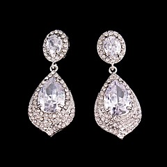 Luxurious Big Rhinestones Long Vintage Dangle Brides Bridesmaids Wedding Party Princess Earring