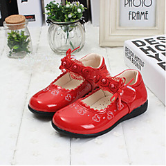 Girls' Shoes Party & Evening/Dress/Casual Comfort Lace/Leatherette Flats Black/Pink/Red