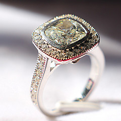 Hollow Style Cushion Cut 3CT Engagement Ring Halo Paved SONA Simulate Diamond Stetling Silver Jewelry Platinum Plated