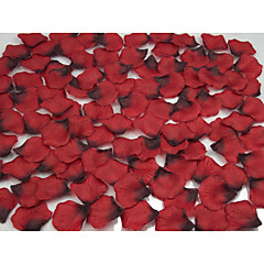 Set of 100 Wine&Blacke Petals Rose Petals Table Decoration (Assorted Color)