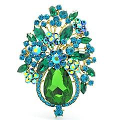 Women's Jewelry Rhinestone Drop Flower Brooch Broach Pins  (More Colors)