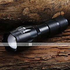 LED Lommelygter / Lommelykter LED 5 Modus 1600 Lumens Justerbart Fokus Cree XM-L T6 18650 / AAACamping/Vandring/Grotte Udforskning /