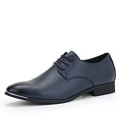 Men's Shoes Wedding/Office & Career/Party & Evening Leather Oxfords Black/Blue/Burgundy