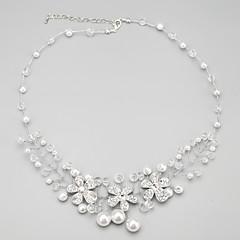 Damen Halskette Jubiläum/Hochzeit/Verlobung/Geburtstag/Geschenk Kristall/Künstliche Perle/Strass Legierung/Strass/Künstliche Perle