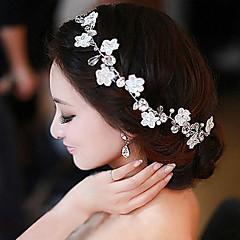 נשים תחרה דמוי פנינה שיפון כיסוי ראש-חתונה אירוע מיוחד קז'ואל חוץ סרטי ראש פרחים שרשרת ראש זרי פרחים חלק 1