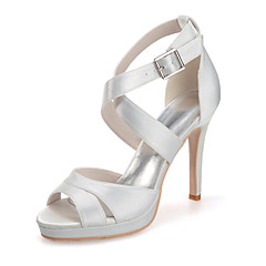 Women's Shoes Silk Stiletto Heel Open Toe Sandals Wedding/Party & EveningMore Colors available