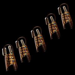 nt2 10шт моды женщин золотые и серебряные образует ногтей инструменты для акриловых советы УФ-гель французский Nail Art украшения