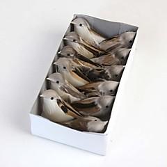 eine Schachtel mit künstlichen Vögel umfassen 12pcs