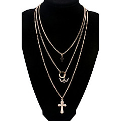 Women's Angel wings Cross Gold Necklace