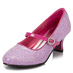 Girls' Shoes Wedding/Party & Evening Round Toe Stretch Satin Pumps/Heels Pink/Silver/Gold