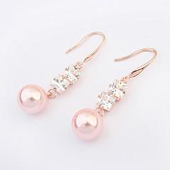 Pendentif d'oreille Boucle Alliage Imitation de perle/Zircon Femme