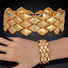Damen Ketten- & Glieder-Armbänder Armreife Vintage Armbänder Modeschmuck Mehrlagig Luxus-Schmuck Krystall Strass Platiert vergoldet 18K