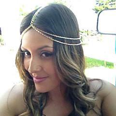 Femme Alliage Casque-Décontracté Extérieur Chaîne pour Cheveux 1 Pièce