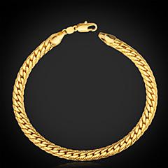 Herrn Ketten- & Glieder-Armbänder Vintage Armbänder Armband Modisch Klassisch individualisiert Platiert vergoldet Gold-gefüllt Aleación