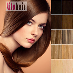 20inch 0.5g 100Strands Pre Bonded Keratin Nail U Tip Remy Human Hair Extensions  AAA Grade Black Brown Blonde Any Color