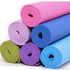 Tapis de Yoga ( Rouge/Bleu/Vert/Violet/Pourpre foncé/Bleu Ciel/Bleu cair , PVC ) 6