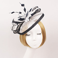 Women Feather/Net Western Style Flowers/Hats With Wedding/Party Headpiece(More Colors)