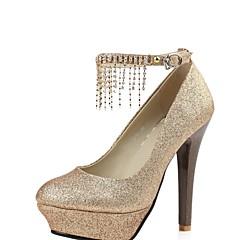 Women's Shoes Stiletto Heel Heels/Platform Pumps/Heels Wedding/Office & Career/Party & Evening Red/Silver/Gold