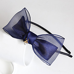 Women's Alloy/Chiffon Headpiece - Casual/Outdoor Bowknot Headbands 1 Piece