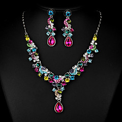 Multicolor Zircon Jewelry Set for Wedding Party