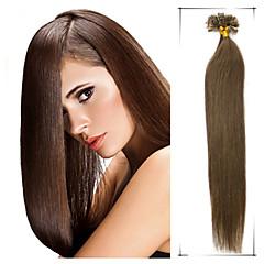 klass 5a 1st / lot 18inch / 45cm multicolors rakt fusion Kontakten / u hårförlängning människohår väver 0,5 g / s