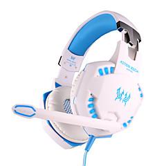 jeder G2100 Kopfhörer verdrahtet 3,5 mm über Ohr-Gaming-Vibrationslautstärkeregler mit Mikrofon für PC