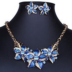 MISS U Women's All Matching Vintage Elegant Flower Necklace & Earrings Suit