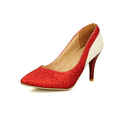 Women's Shoes Stiletto Heel Heels/Comfort/Pointed Toe/Closed Toe Pumps/Heels Wedding/Dress/Casual Red/Silver/Gold