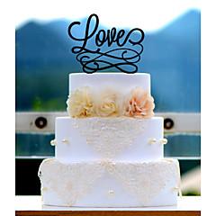 Tortenfiguren & Dekoration Nicht-personalisierte Acryl Hochzeit / Jubliläum / Brautparty Rot / Weiß / Gold / Silber / Grün / Blau 1Poly