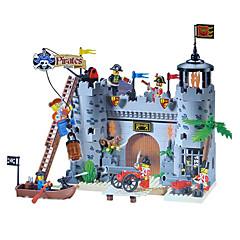 להאיר פירטים צעצועי לבני בניית DIY ערכות אבני בניין טירה לשדוד צריף 366pcs
