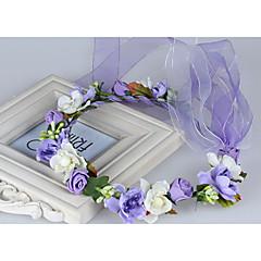 Женский Ткань Заставка-Свадьба Особые случаи На каждый день на открытом воздухе Венки 1 шт.