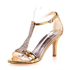 Women's Wedding Shoes Open Toe Sandals Wedding / Party & Evening Black / Blue / Silver / Gold