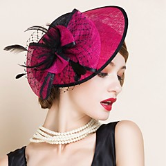 Women's Flax Headpiece-Wedding Special Occasion Fascinators 1 Piece