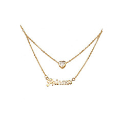 Women's Alloy Necklace Anniversary / Engagement  / Daily / Special Occasion / Office & Career / OutdoorCubic