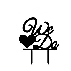 Decorações de Bolo Não-personalizado Monograma Acrilíco Aniversário / Despedida de Solteira / Casamento Preto 1 PPO