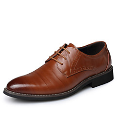 Men's Shoes Office & Career / Casual Leather Oxfords Black / Blue / Brown / Burgundy