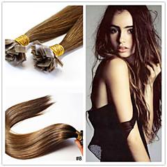 """18 """"-28"""" peruanska jungfru hårförlängning platt spets hårförlängning 1g / sträng pre bunden hårförlängning i aktier"""