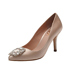 Women's Wedding Shoes Heels/Pointed Toe/Closed Toe Heels Wedding/Party & Evening/Dress Red/Champagne
