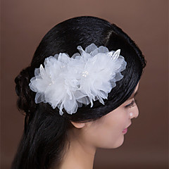 Women's / Flower Girl's Lace / Imitation Pearl / Chiffon Headpiece-Wedding / Special Occasion Flowers 1 Piece