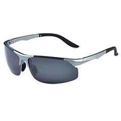 Óculos de Sol Homens's Clássico / Esportivo / Fashion / Polarized Enrole Preta / Prateada / Marrom / Dourada / Cinzento Óculos de Sol