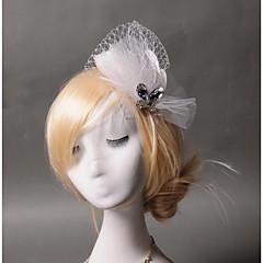 Femme Plume / Tulle Casque-Mariage / Occasion spéciale / Décontracté Coiffure 1 Pièce Clair Poire