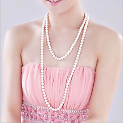 Necklace Strands Necklaces / Pearl Necklace Jewelry Wedding / Party / Daily / Casual Fashion Pearl / Imitation Pearl Silver 1pc Gift