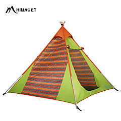HIMAGET 2 persons Tent Triple Family Camping Tents One Room Camping Tent >3000mm Iron Oxford Polyester TaffetaMoistureproof/Moisture