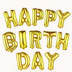 16inch renkli folyo mektup balonları 10pcs mektup şeklinde balonlar parti